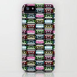 retro cassette design iPhone Case