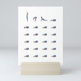Funny Yoga Illustration Mini Art Print