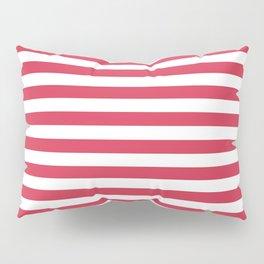 Red white striped Pillow Sham