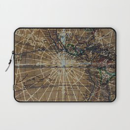 Vintage Old World Abstract Map Laptop Sleeve