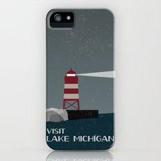 Visit Lake Michigan  iPhone (5, 5s) Slim Case