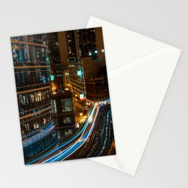 Subway Light Trails III Stationery Cards