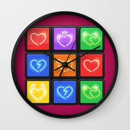 Rubik's Cube with Love Puzzle Wall Clock