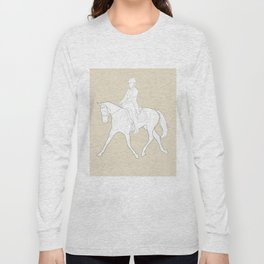 Dressage in Brown Long Sleeve T-shirt