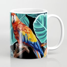 tropical leaves macaw pattern 2 Coffee Mug