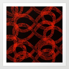 red pattern 4 Art Print