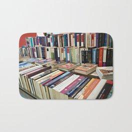 Sale of books on flea market Bath Mat