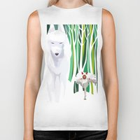 princess mononoke Biker Tanks featuring Princess Mononoke by youcoucou