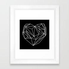 Heart Graphic (Black) Framed Art Print
