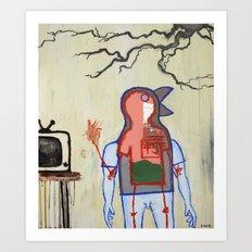 Terrestrial Fella Broadcasting Art Print