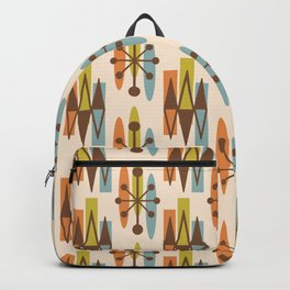 Mid Century Modern Atomic Triangles 334 Backpack