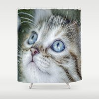 wonder Shower Curtains featuring Wonder by Stephanie Koehl