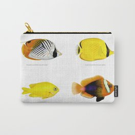 Plate of Tropical Fish Carry-All Pouch