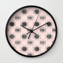 Eye of wisdom pattern- Pink & Black- Mix & Match with Simplicity of Life Wall Clock
