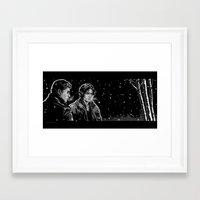 daunt Framed Art Prints featuring Dead Winter by Daunt
