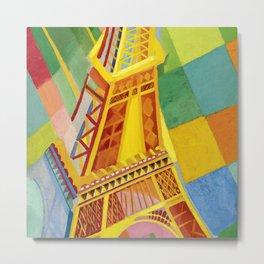 "Robert Delaunay ""The Eiffel Tower"" Metal Print"