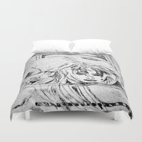 college Duvet Covers featuring College Art by Jeffrey J. Irwin