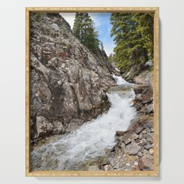 Waterfall on Mineral Creek in Porphyry Basin Serving Tray