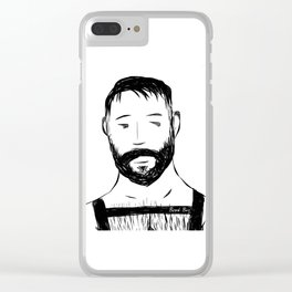 Beard Boy Harness 1 Clear iPhone Case
