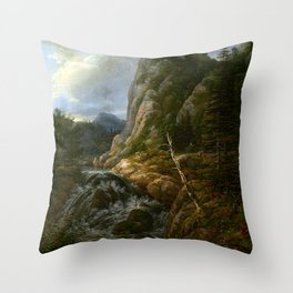 Johann Christian Clausen Dahl Nordic Landscape Throw Pillow