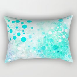 Watercolor Retro Blue Rectangular Pillow