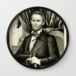 Abraham Lincoln - Sixteenth President of the United States Wall Clock
