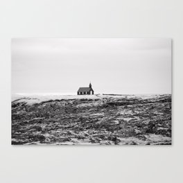 Black and White Photograph - Travel photography Canvas Print