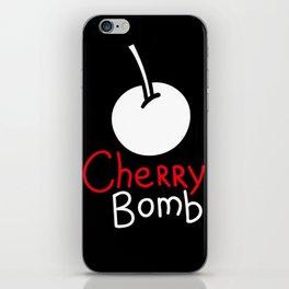 Black cherry bomb iPhone Skin
