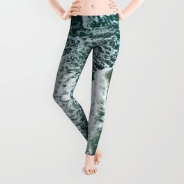 Wavy Waves on a stormy day Leggings
