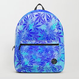 Blue Frost Cannabis Swirl Backpack