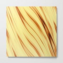 The art of fiery gold Metal Print