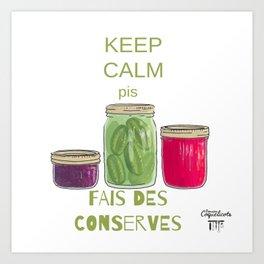 Domaine Coquelicots - Fais des conserves Art Print