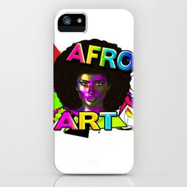 Afro Art iPhone Case