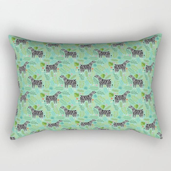 Zebra pattern green Rectangular Pillow