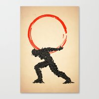 atlas Canvas Prints featuring Atlas by Dave Razor Compton Wolff