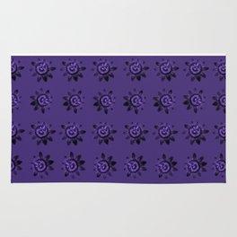 passion flower in violet Rug