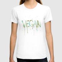 vegan T-shirts featuring VEGAN by Elisaveta Stoilova