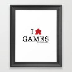 I Meeple Games Framed Art Print