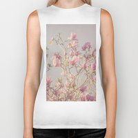 magnolia Biker Tanks featuring Magnolia  by Pure Nature Photos