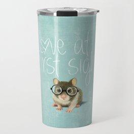 Little mouse in love Travel Mug