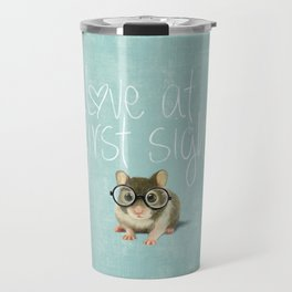 Little mouse in love Travel Mug
