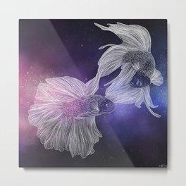 Piscean Yin Yang Metal Print