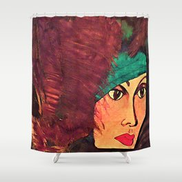 GINA IN THE JUNGLE Shower Curtain