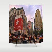 manhattan Shower Curtains featuring Manhattan by Jaime Viens