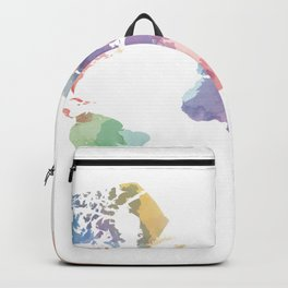 colorful world map Backpack
