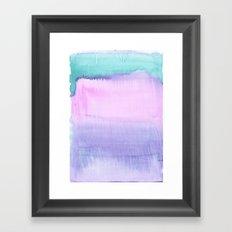 Watercolour Pastel Framed Art Print