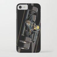 senna iPhone & iPod Cases featuring Ayrton Senna x JPS by Sean Kane Design