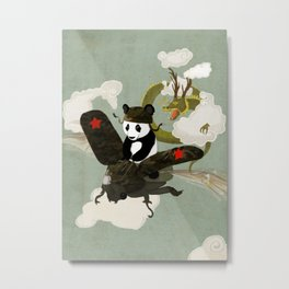 Panda's Escape. Metal Print