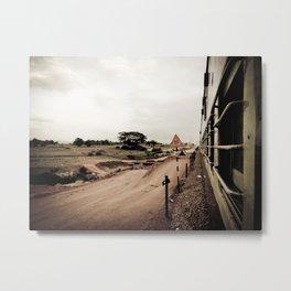 The Train Back Home. Metal Print