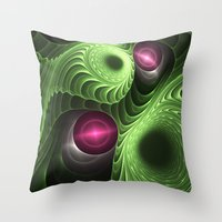 fractal Throw Pillows featuring Fractal by nicky2342